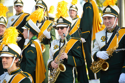 The Pride of the Pacific, the Mustang Marching Band, performs on game day vs Northern Colorado. November 19, 2016. Photo by Ian Billings.
