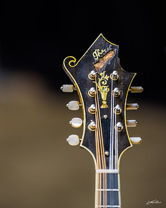 Ricky modified his mandolin to mirror Bill Monroe's