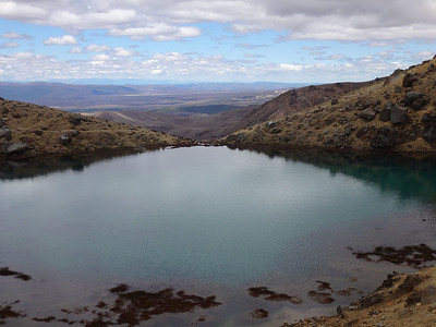 The lakes appear beautiful but (i) are probably full of sulphuric acid, due to all the sulphur vents, and (ii) are sacred to the Maoris - hence they are not to be touched