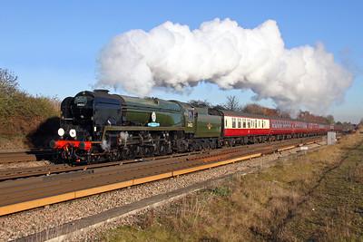 34052 Worting Junction 29/11/16 1Z82 West Brompton to Salisbury