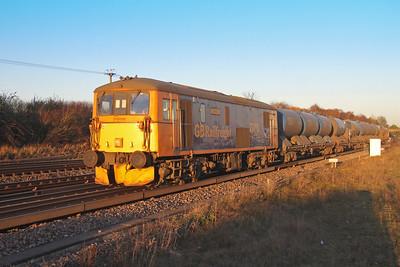 73213 Worting Junction 25/11/16 3W92 Tonbridge to Eastleigh