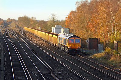 66777 Worting Junction 25/11/16 6M26 Eastleigh to Mountsorrel
