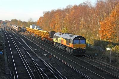 66847 Worting Junction 25/11/16 6Y48 Eastleigh to Hoo Junction