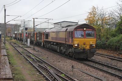66172 Hornsey 21/11/16 4E25 Bow to Heck