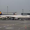 Lufthansa Airbus A321 D-AISV at Frankfurt Airport.