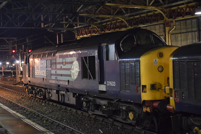 DRS Class 37 no. 37603 at Crewe.