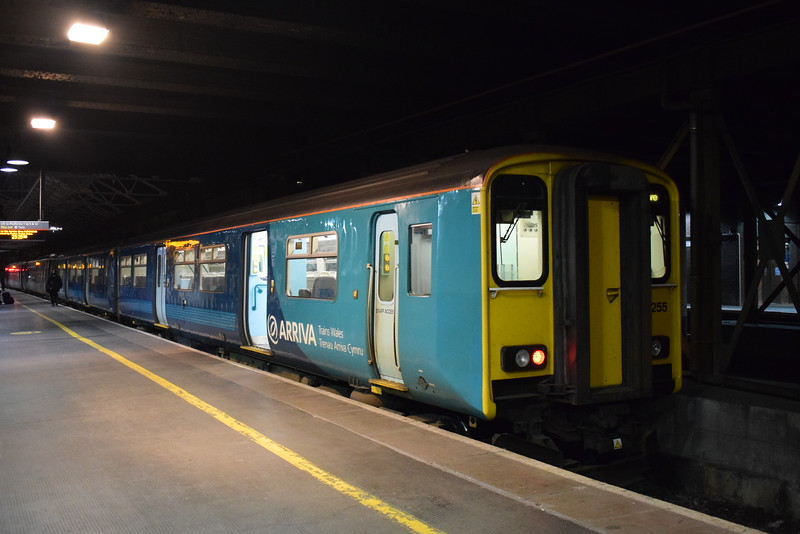 Arriva Trains Wales Class 150 Sprinter no. 150255 at Crewe.