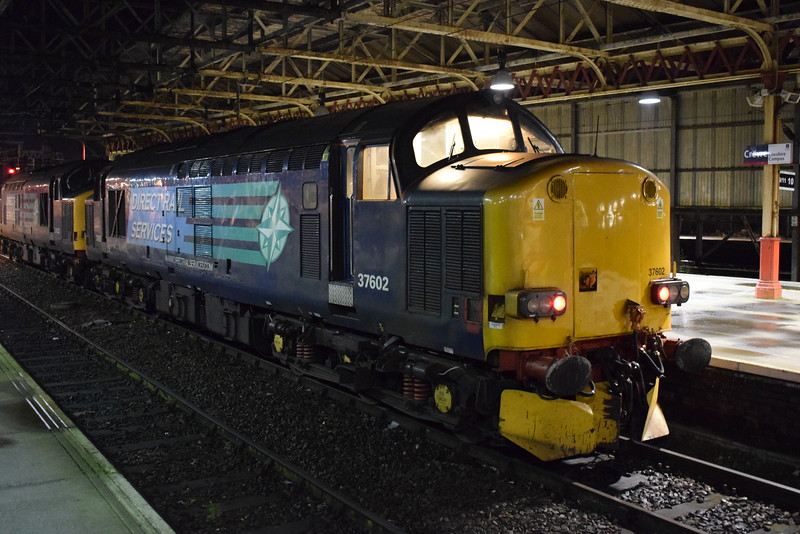 DRS Class 37 no. 37602 at Crewe.