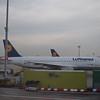 Lufthansa Airbus A320 D-AIPE at Frankfurt Airport.