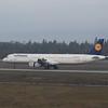 Lufthansa Airbus A321 D-AIDL landing at Frankfurt Airport.