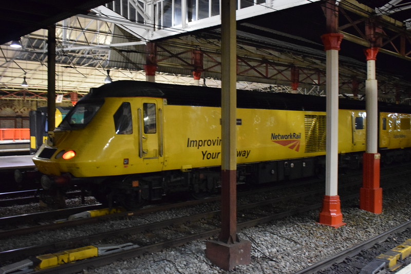 Network Rail Class 43 HST Power Car no. 43014 'The Railway Observer' at Crewe on Network Measurement Train duties.