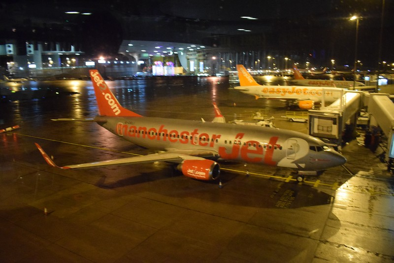 Jet2 Boeing 737 G-CELI at Manchester Airport.