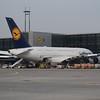 Lufthansa Airbus A380 D-AIMI at Frankfurt Airport.