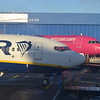 A comparison between a Ryanair Boeing 737 and a Wizzair Airbus A320 at London Luton.
