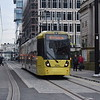 Manchester Metrolink Bombardier Flexity M5000 tram no. 3041 approaching St. Peter's Square on an Altrincham service.