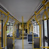 Manchester Metrolink Bombardier Flexity M5000 tram no. 3103 interior on an East Didsbury service.