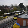 Manchester metrolink trams at East Didsbury.