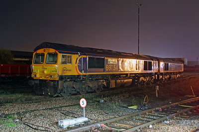 66754 Eastleigh 24/10/16 stabled with 66755
