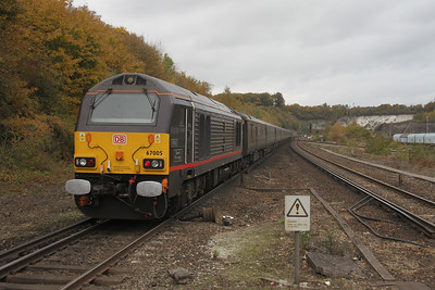 67005 Micheldever 27/10/16 on the rear of 1Z40 Dorchester to London Euston