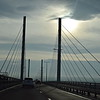 The Kessock Bridge, a cable-stayed bridge taking the A9 into Inverness.