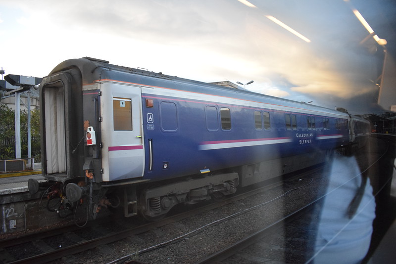 Caledonian Sleeper Mark III carriages at Inverness.