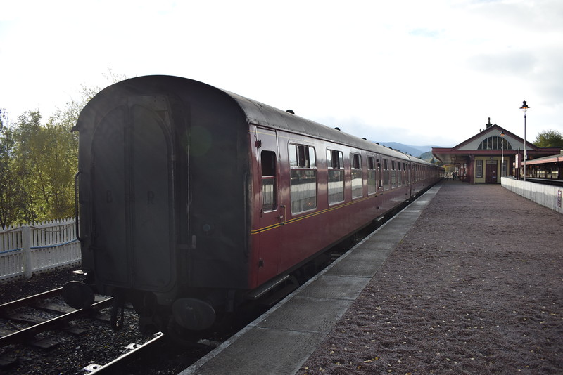 Mark I and II carriages at Aviemore.