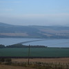The Cromarty Bridge and the Scottish Highlands seen from Culbokie.