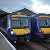 Abellio ScotRail class 170 Turbostar no. 170430 at Inverness on a Glasgow service. First liveried 170420 is alongside.