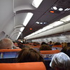 EasyJet Airbus A319 G-EZAM interior flying from London Luton to Inverness.
