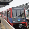 Docklands Light Railway Bombardier B92 Stock unit no. 51 at Royal Albert station on a Becton service.