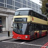 Go Ahead London General liveried Wright NB4L 'Borismaster' LTZ1050 LT50 at Victoria on the 11 to Liverpool Street.