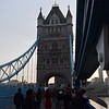 Crossing Tower Bridge.