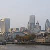 The City of London skyline from Tower Bridge.