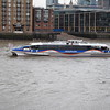 MBNA Thames Clipper passing Southwark Bridge.
