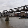 The Millennium Bridge over the River Thames.