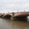 Southwark Bridge over the River Thames.