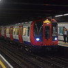 London Underground Circle Line S7 Stock arriving at Euston Square.