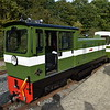 Diesel Loco No.8 'Bayhurst' at Willow Lawn on the Ruislip Lido Railway.