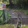 "The 12"" gauge tracks of the Ruislip Lido Railway."