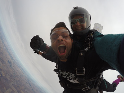 Jeril George tandem skydiving