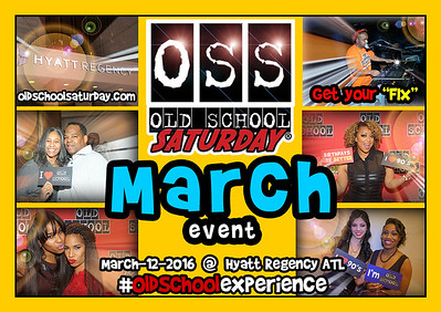 Join us Mar-12-2016 @ The Hyatt Regency ATL.  Full info:  www.oldschoolsaturday.com