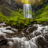 Upper Bridal Veil Falls, from the stream down below