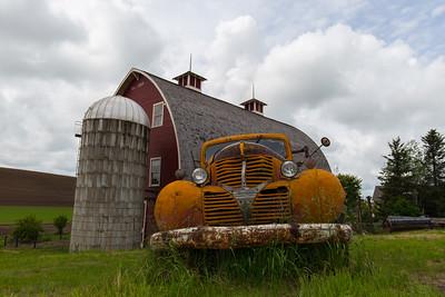 Palouse Farm and Abandoned Truck