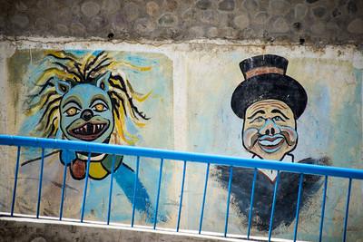 Wall art in Paucartambo