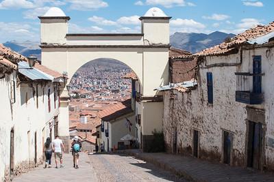 Arch in the Santa Ana neighborhood of Cusco.