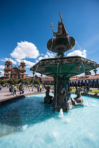 Fountain in the Plaza de Armas