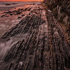 Loved these striations in the rock and even more, loved the epic sunset!
