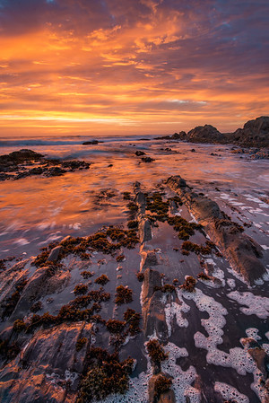 Loved the striations here as the color in the sky kicked off and the water made nice patterns through the rocks
