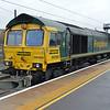 66588 0810/4E62 Felixstowe-Doncaster passes Peterborough.