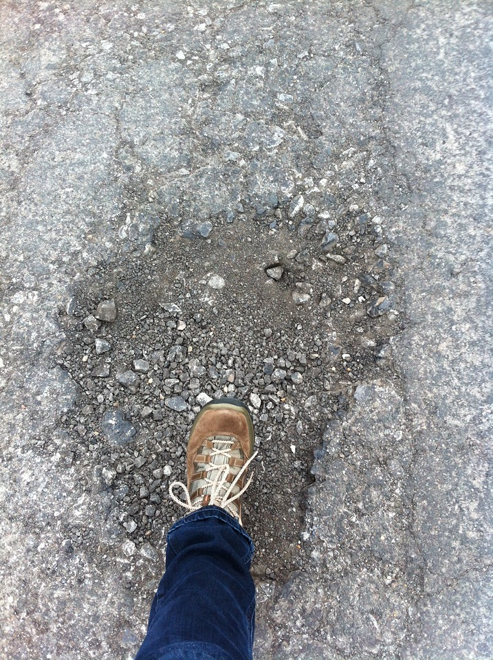 it's getting worse - potholes in our road